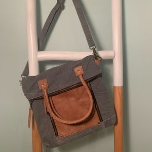 Fold-Over Convertible Tote Bag by Mona B